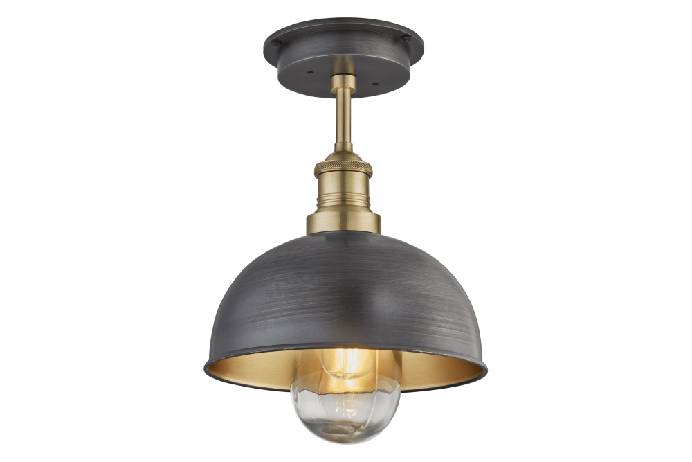 Pewter and Brass - Brass mount,INDUSTVILLE,Ceiling Lights