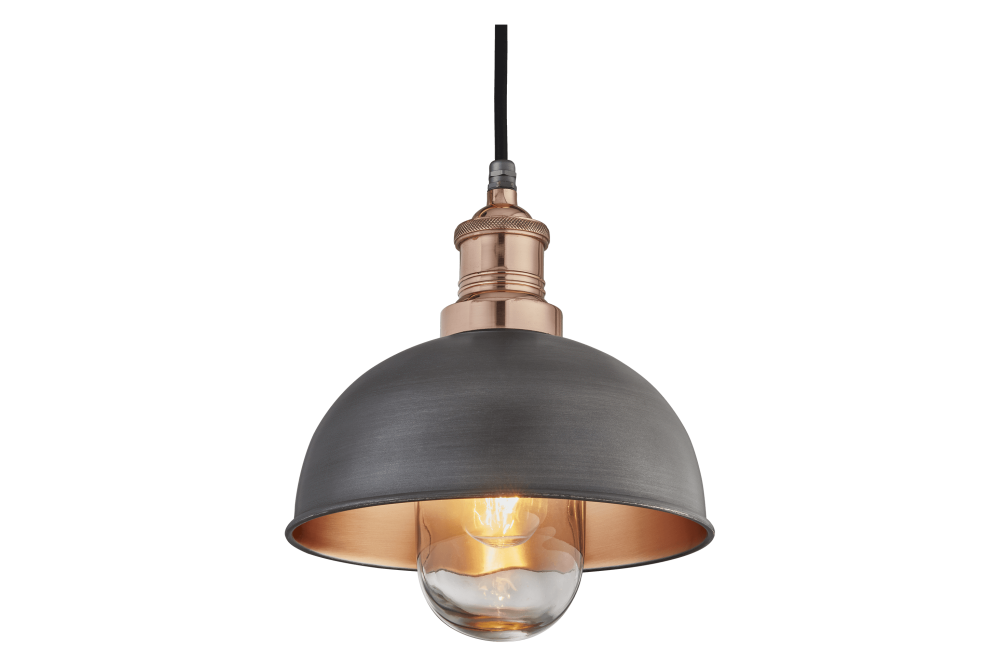 Pewter and Copper - Copper Holder,INDUSTVILLE,Pendant Lights