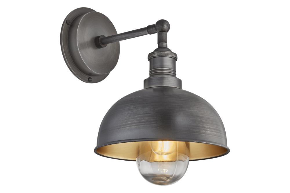 Pewter & Brass - Pewter Holder,INDUSTVILLE,Wall Lights