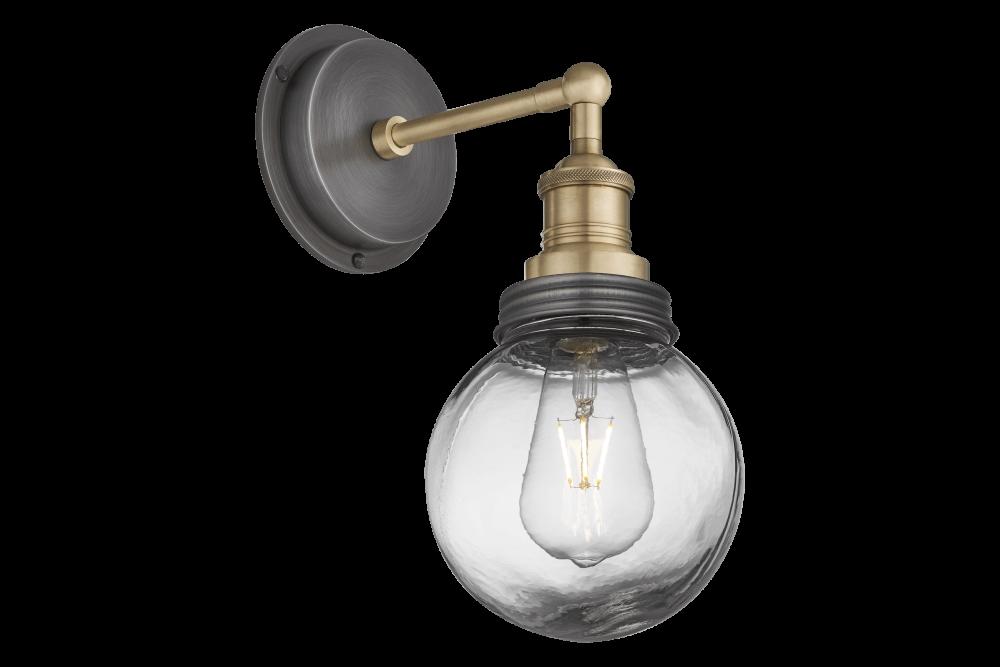 Brass Holder - Brass Ring - Globe Glass,INDUSTVILLE,Wall Lights