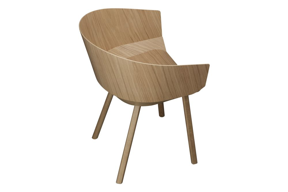 CH04 Houdini Dining Chair with Armrests by e15