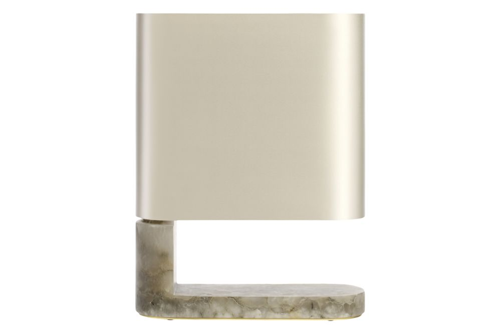 Grey Alabaster with Satin Brass and Dove Grey Silk,CTO Lighting,Table Lamps