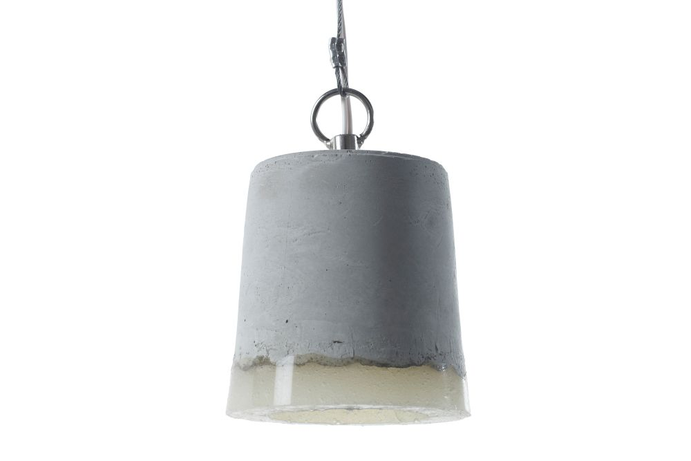 Concrete Pendant Light by Renate Vos