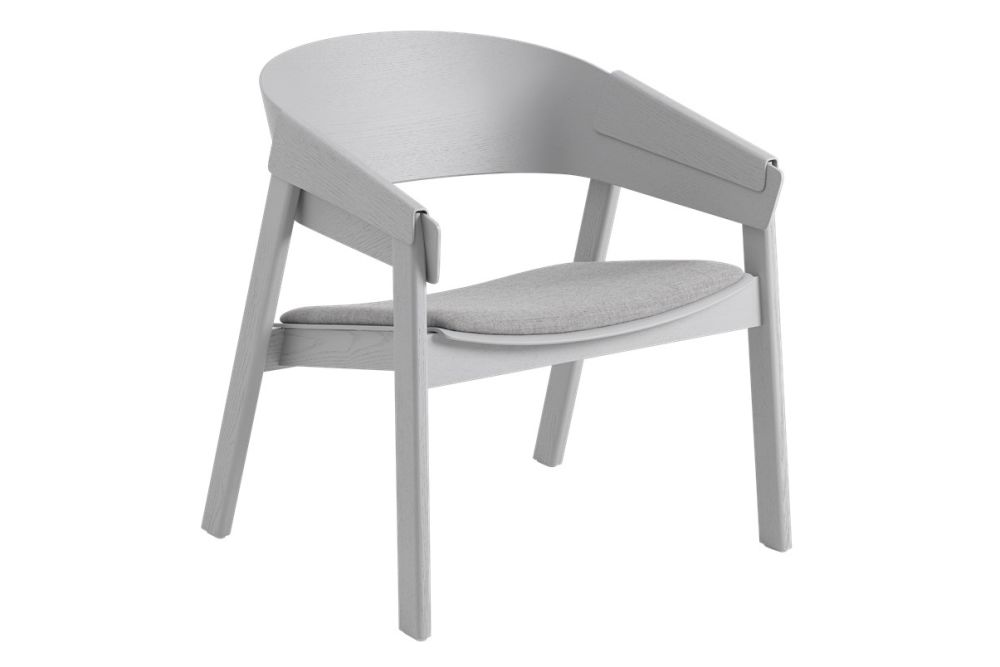 Cover Lounge Chair Wood Base - Upholstered by Muuto