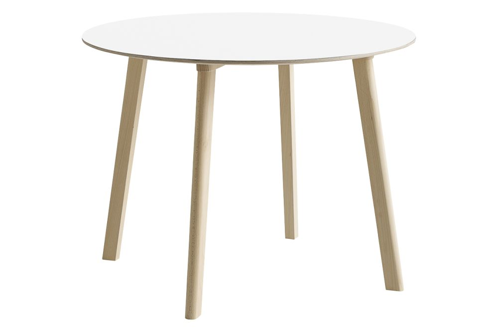Cph Deux 220 Round Dining Table Laminate Dusty Grey Wood