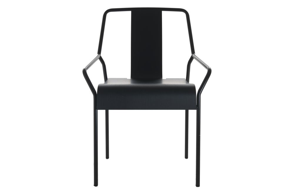 Black Lacquered, Veneer Black Oak,Coedition,Dining Chairs