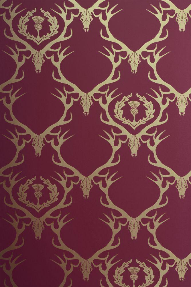 Deer Damask Wallpaper by Barneby Gates