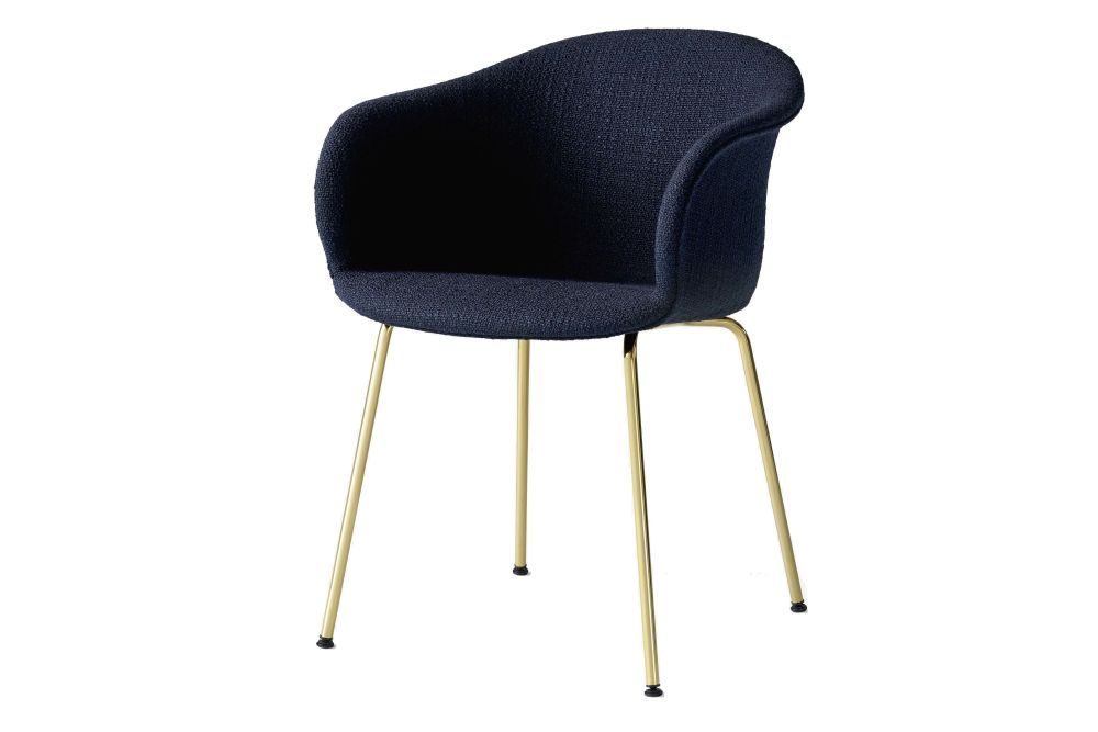 Elefy JH29 Dining Chair with Tube Base - Upholstered by &Tradition