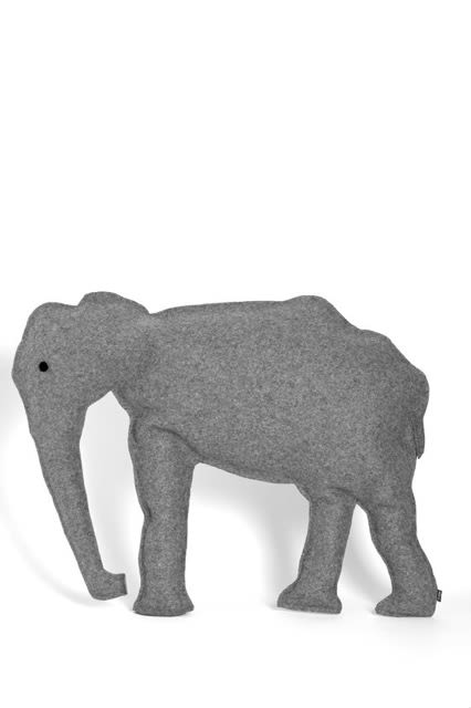 Set of 2, Grey,Design by Nico,Cushions,african elephant,animal figure,elephant,elephants and mammoths,indian elephant,tapir,terrestrial animal