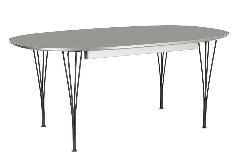 Laminate Standard Colour White 100 x 170/270 Grey,Fritz Hansen,Dining Tables