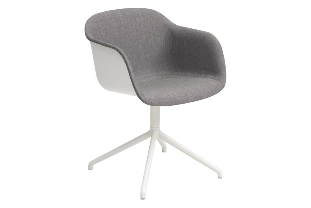 Fiber Armchair Front Upholstery - Swivel Base without Castor by Muuto