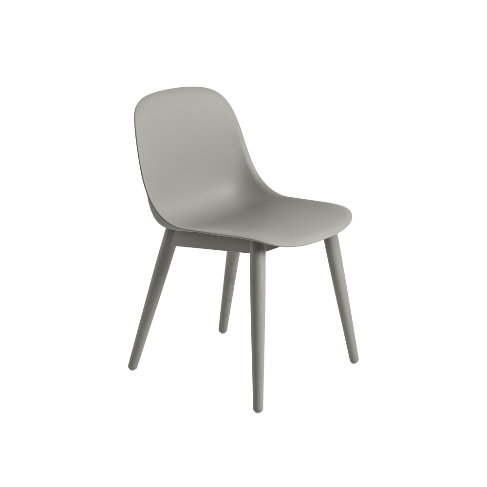 Fiber Side Chair Wood Base by Muuto by Clearance