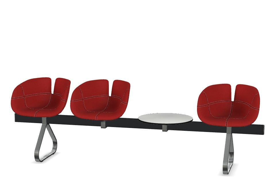 Fjord H. 3 Seat with 1 Table Beam by Moroso