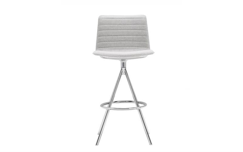 Flex Swivel Base Bar Stool Fully Upholstered by Andreu World