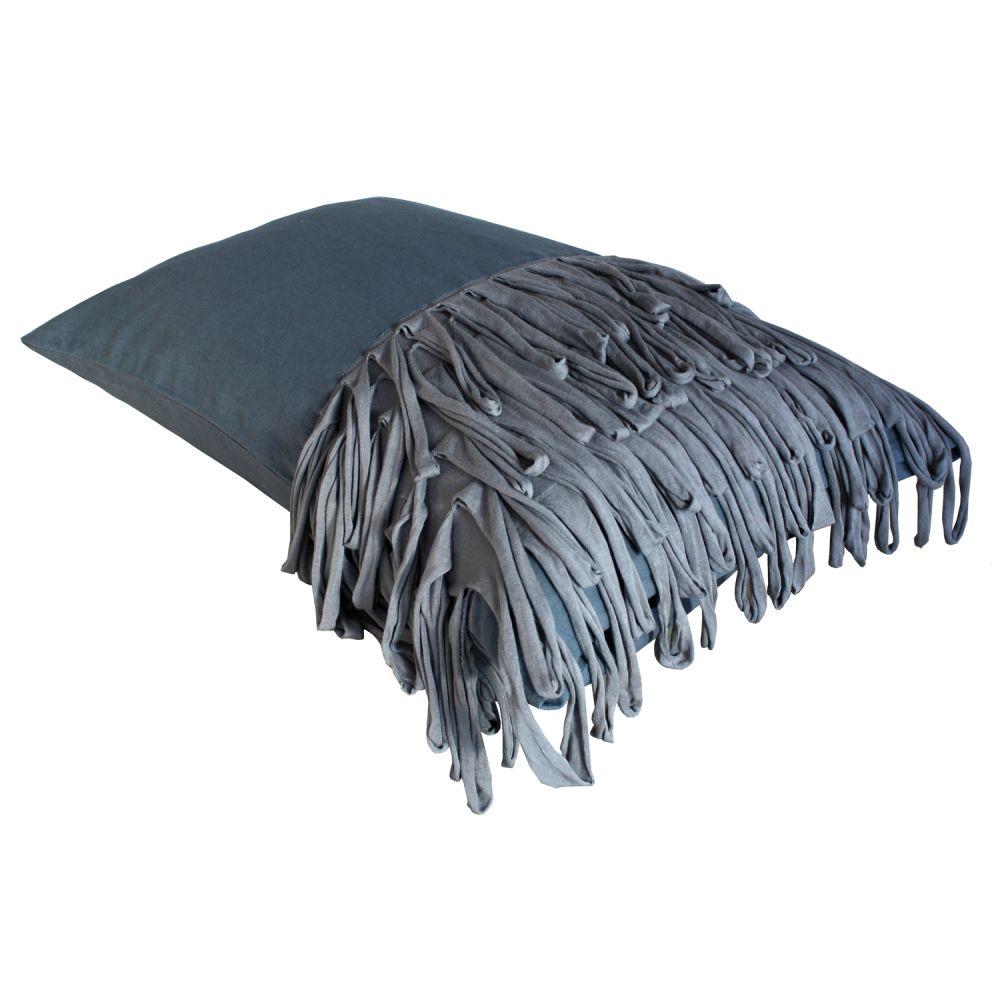 Fringed Cushion – Dark by Vividgrey