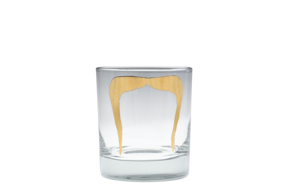 Fu Gold Moustache Tumbler by Peter Ibruegger Studio