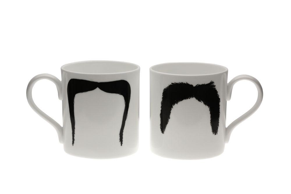 Fu Magnum Moustache Mug by Peter Ibruegger Studio