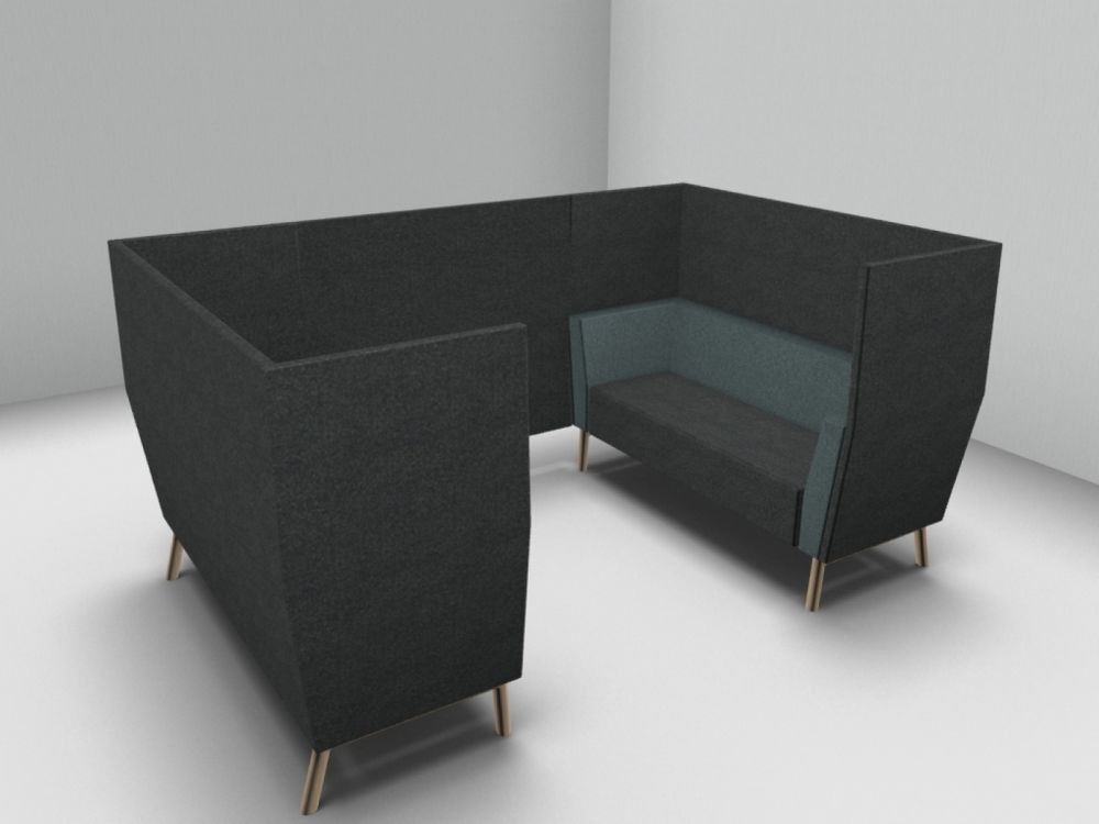 Gap Meeting Wood Base Sofa by Swedese