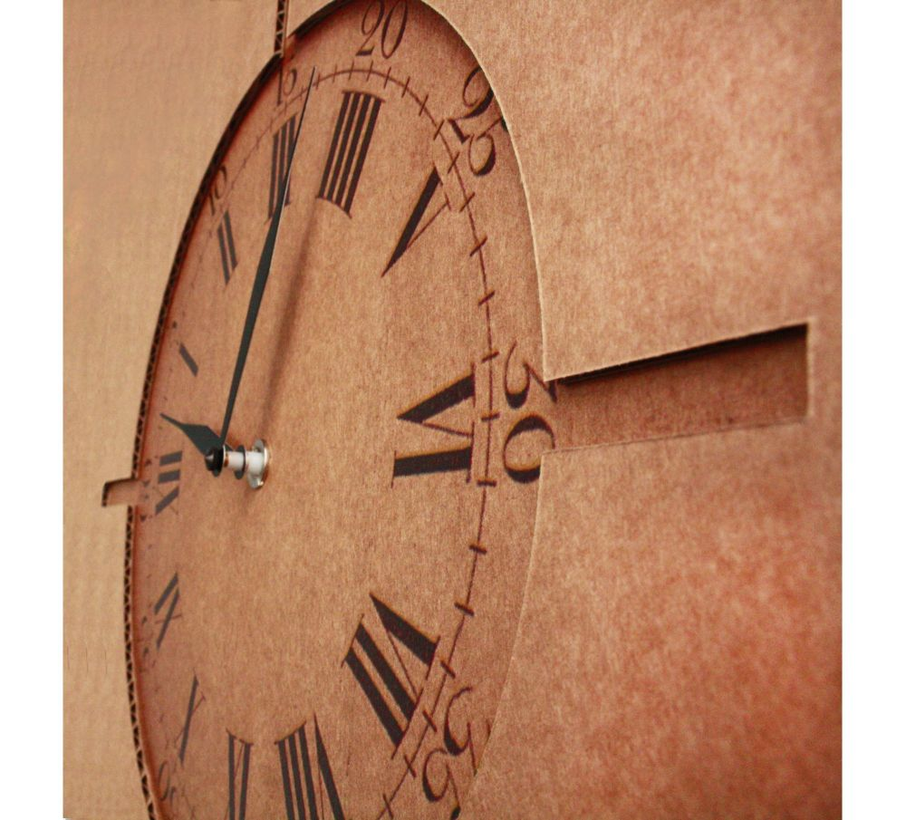 Good Morning, Mr. Foucault! Clock by Karton Art Design