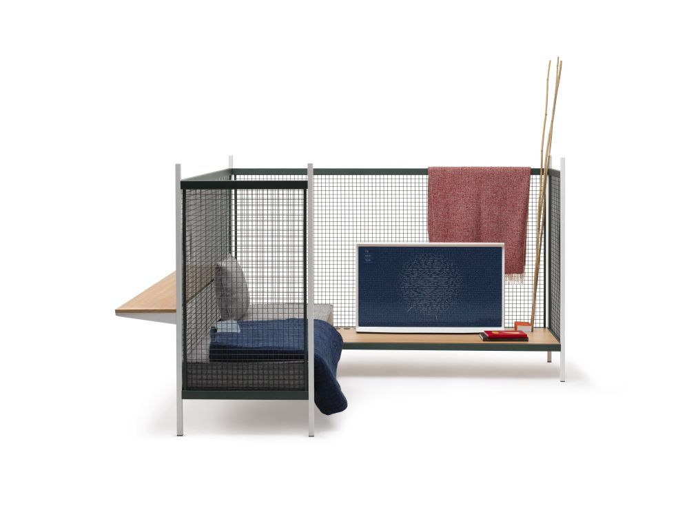 Left-hand facing, Category 1, Metal grid, Low support,Established & Sons,Breakout Sofas
