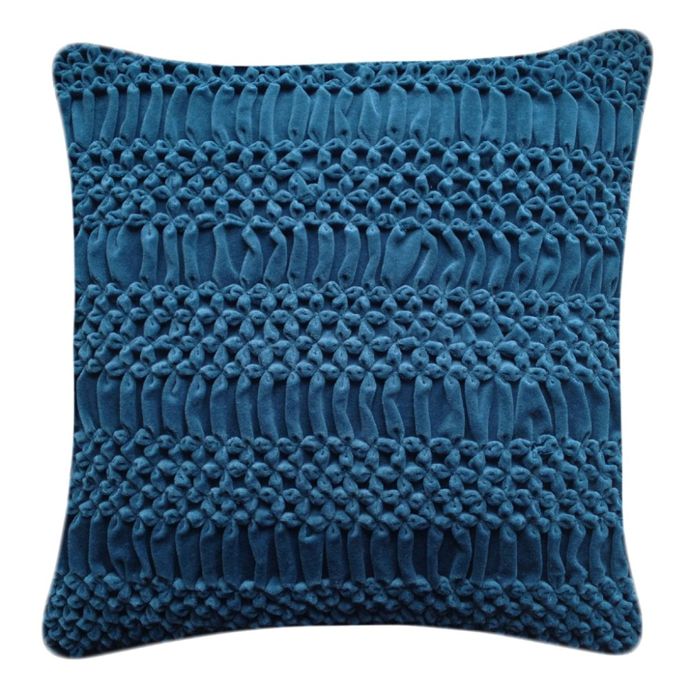 Hand Stitched Striped Flower Signature Cushion by Nitin Goyal London