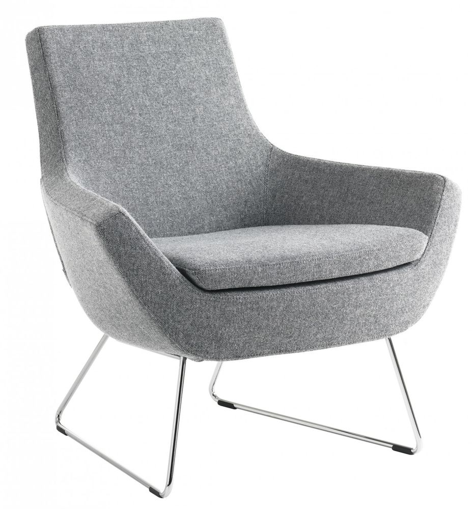Happy Easy Chair Low Back Sled Base by Swedese