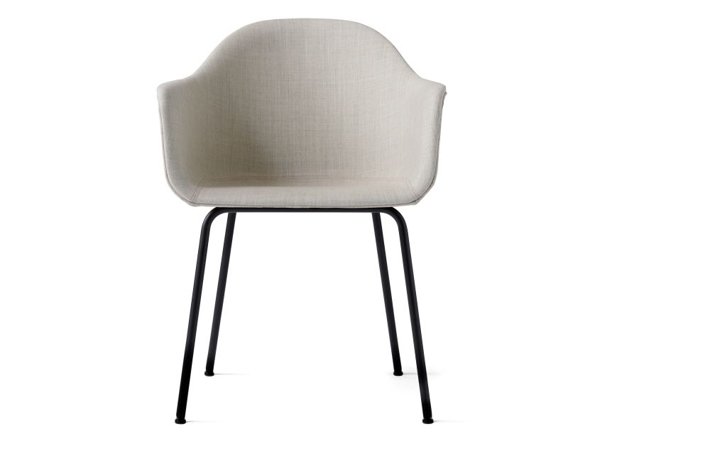 Harbour Upholstered Chair - Steel Base by Menu