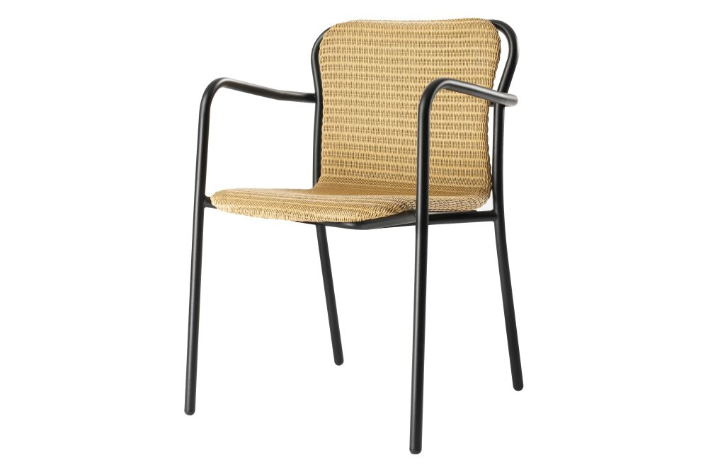 Hug Dining Chair with Armrests - Lloyd Loom - Set of 5 by Deadgood