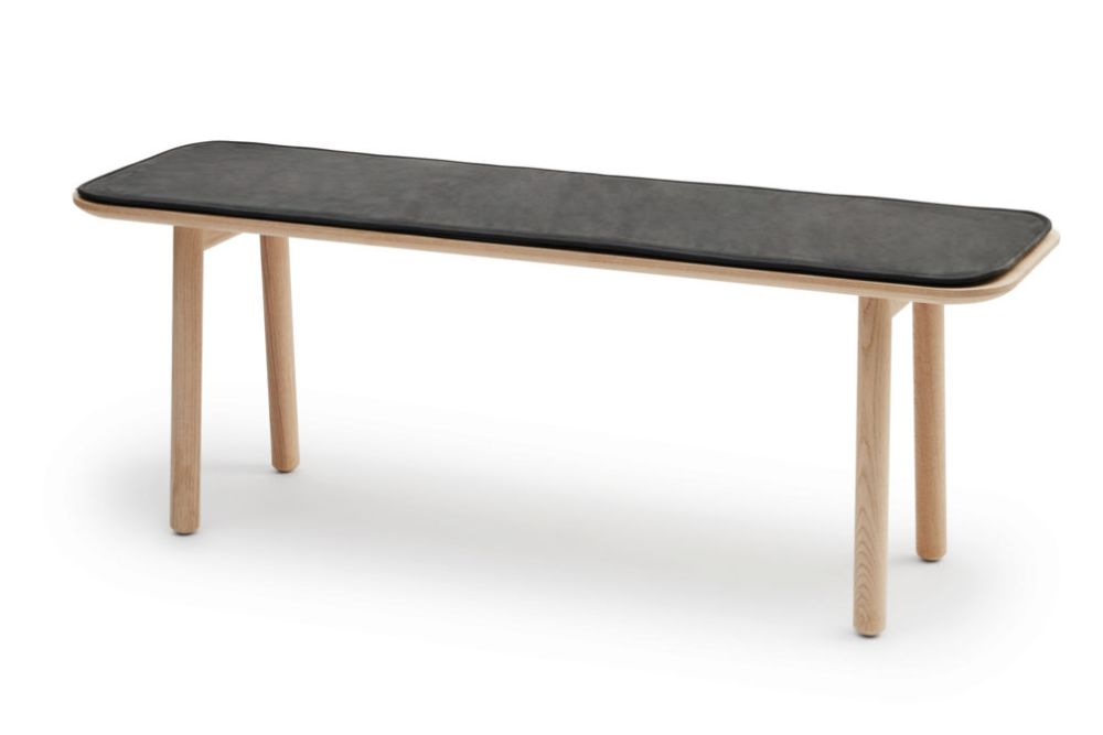 Oak Protected Leather Anthracite Black,Skagerak,Benches