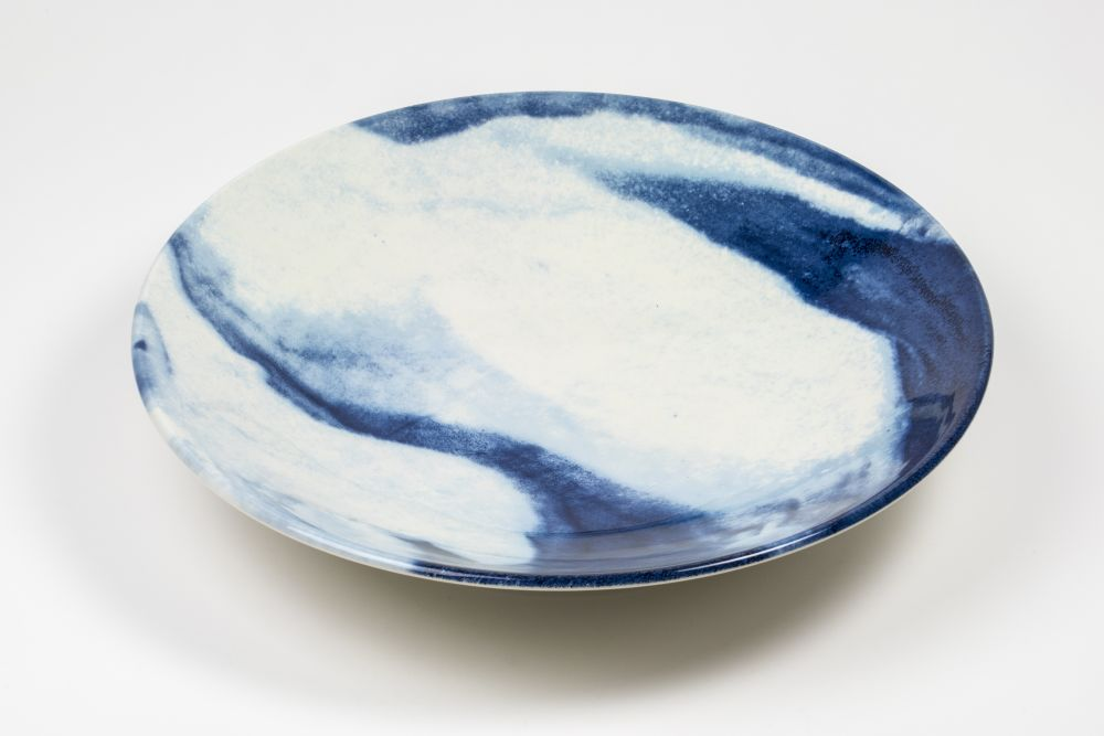 Indigo Storm Serving Bowl  by 1882 Ltd