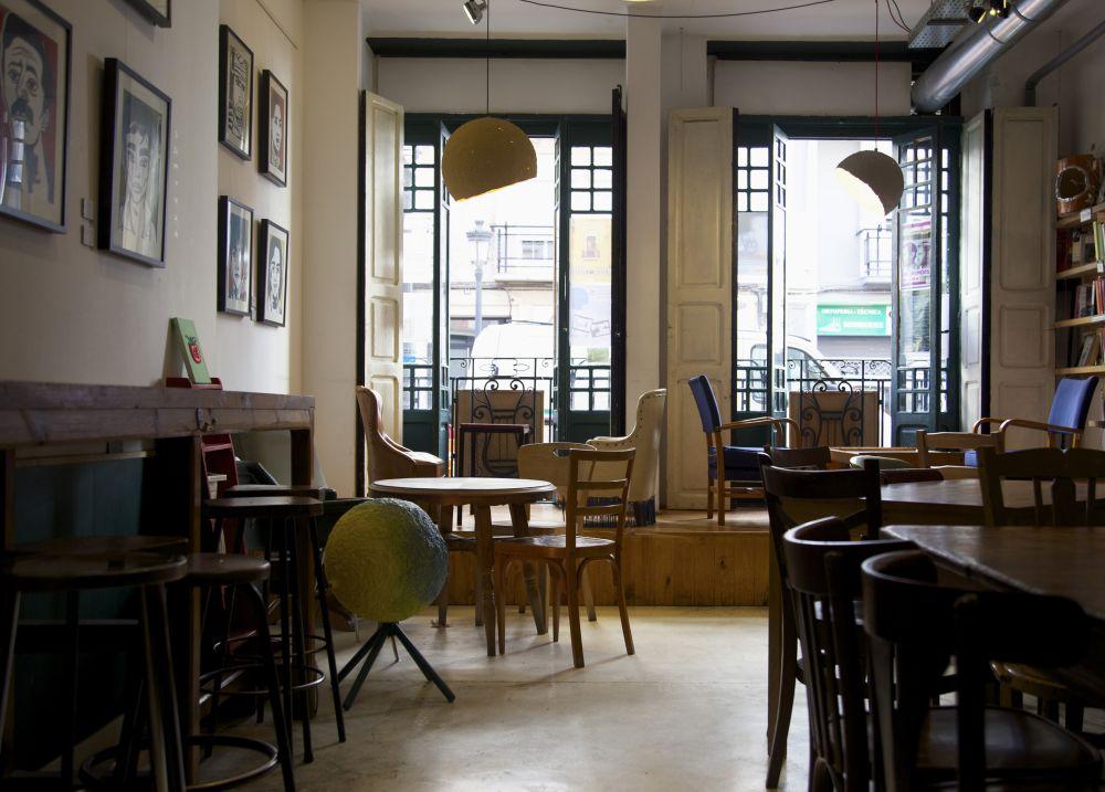 Jupiter lamp in Cafe Ubik in Valencia, Spain