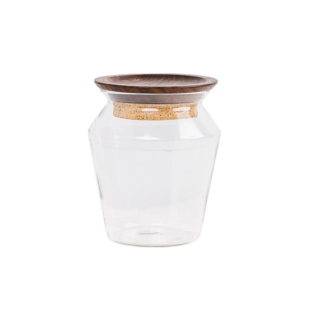 Kosa Glass Storage Jar by Tiipoi