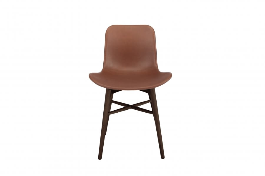 Langue Original Dining Chair, Dark Stained - Leather by NORR11