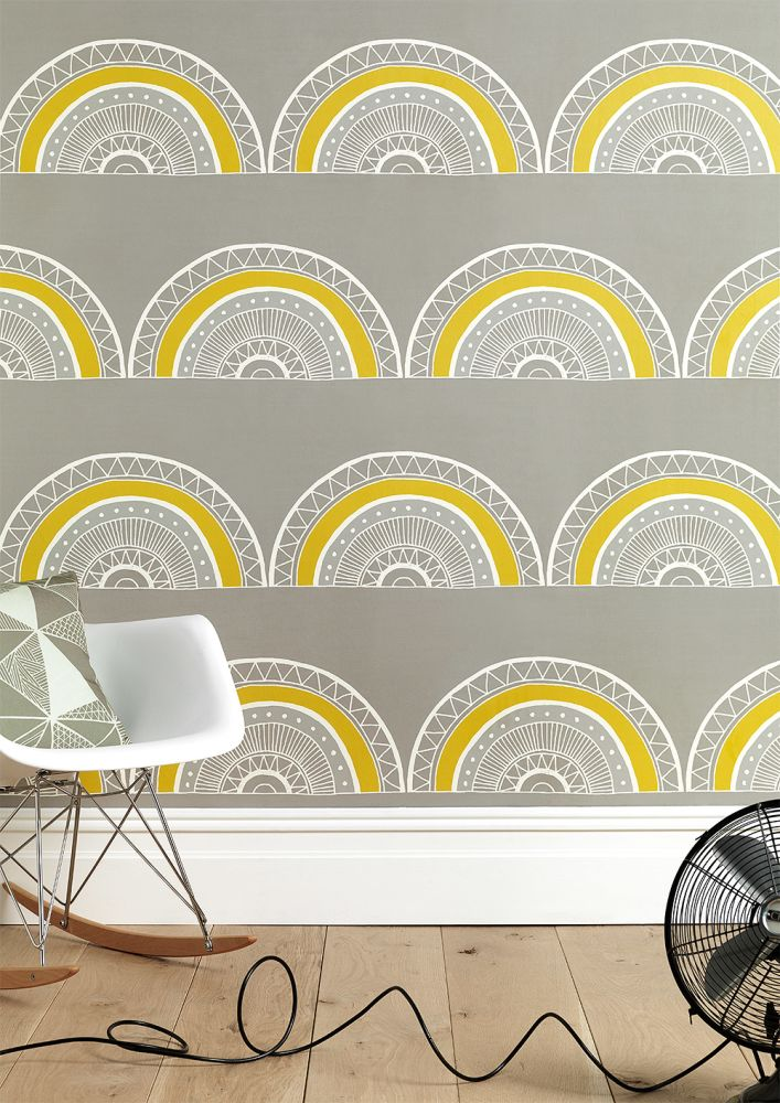 Large Horseshoe Arch Wallpaper by Sian Elin