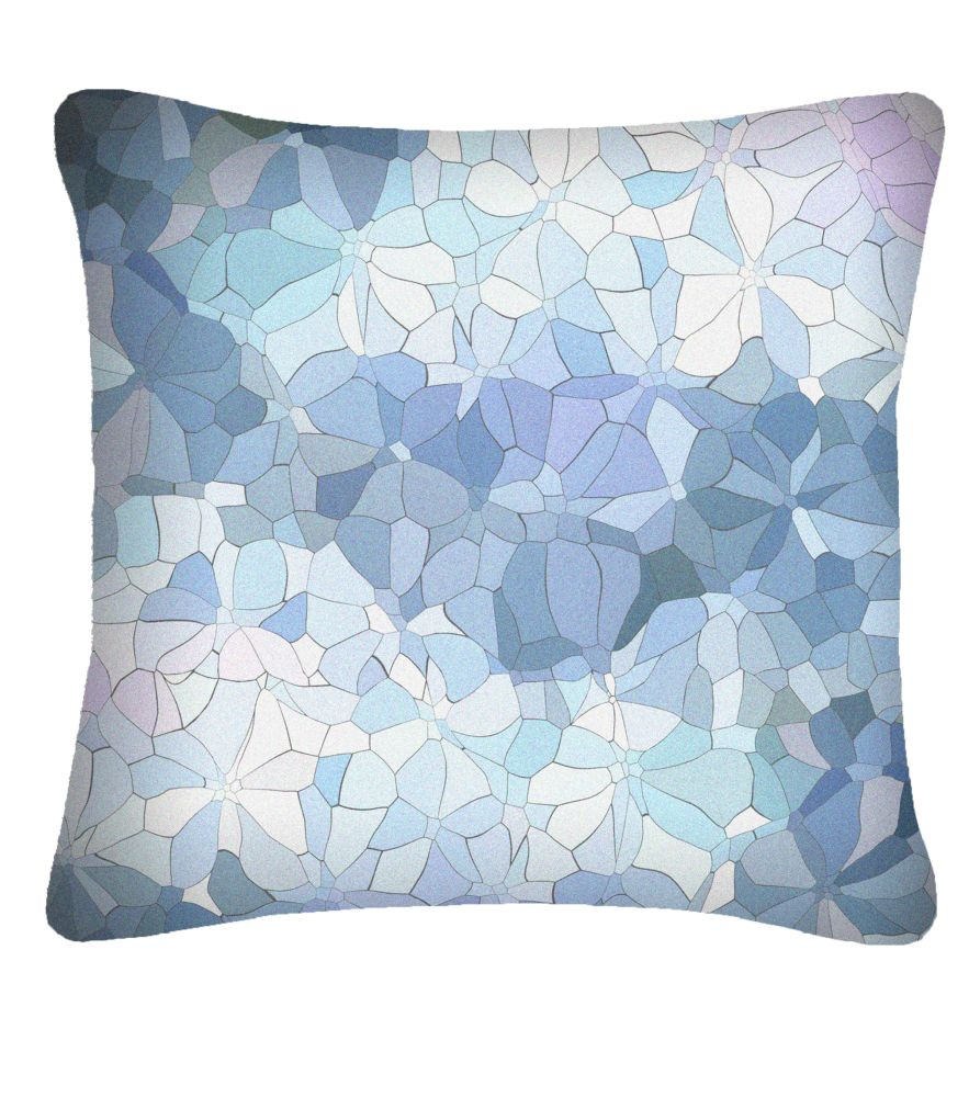Large Mosaic Printed Cushion  by Nitin Goyal London