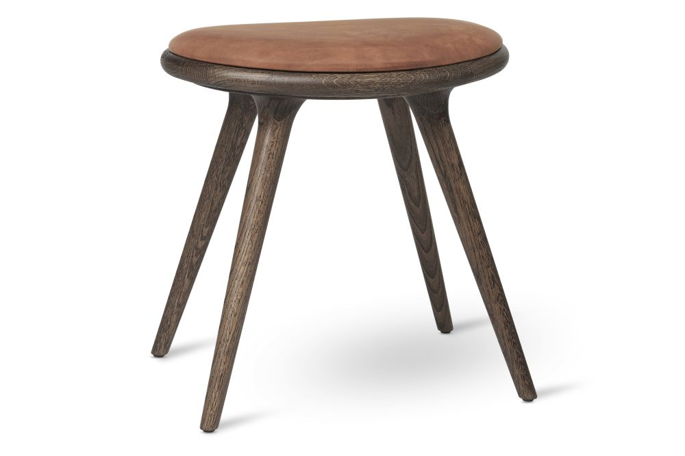 Dark Stained Solid Oak, Rust, 47H,Mater,Stools