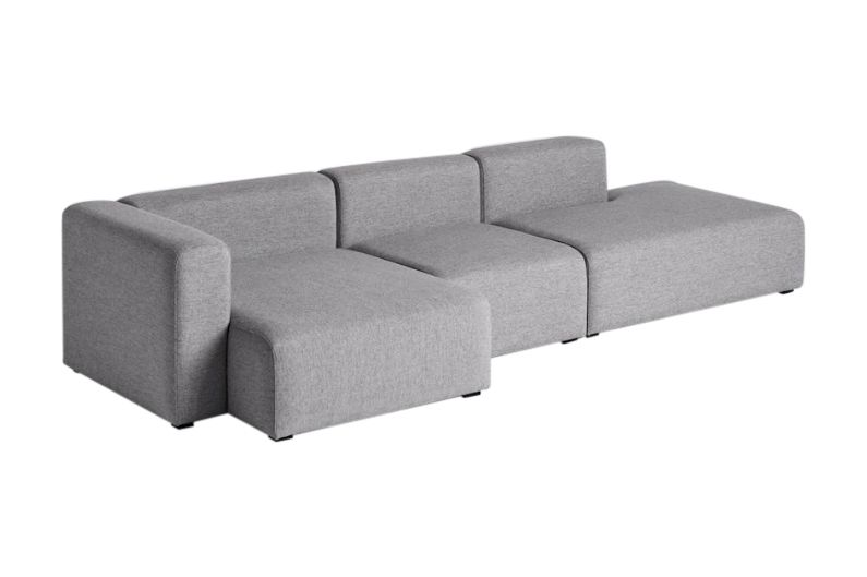 Mags Narrow 3 Seater Lounge Sofa with Chaise Left by Hay