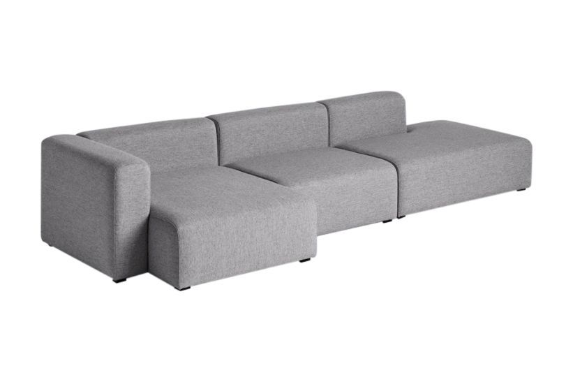 Mags Wide 3 Seater Lounge Sofa with Chaise Left by Hay