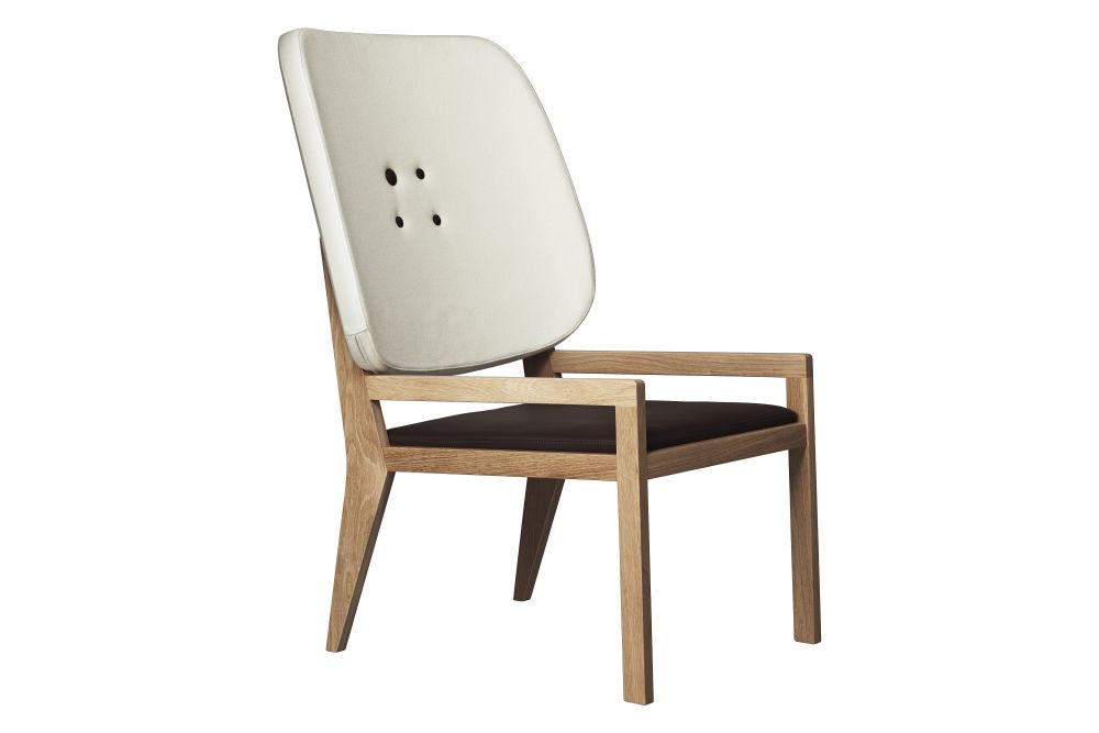 Manga Easy Chair With Leather Seat by Swedese
