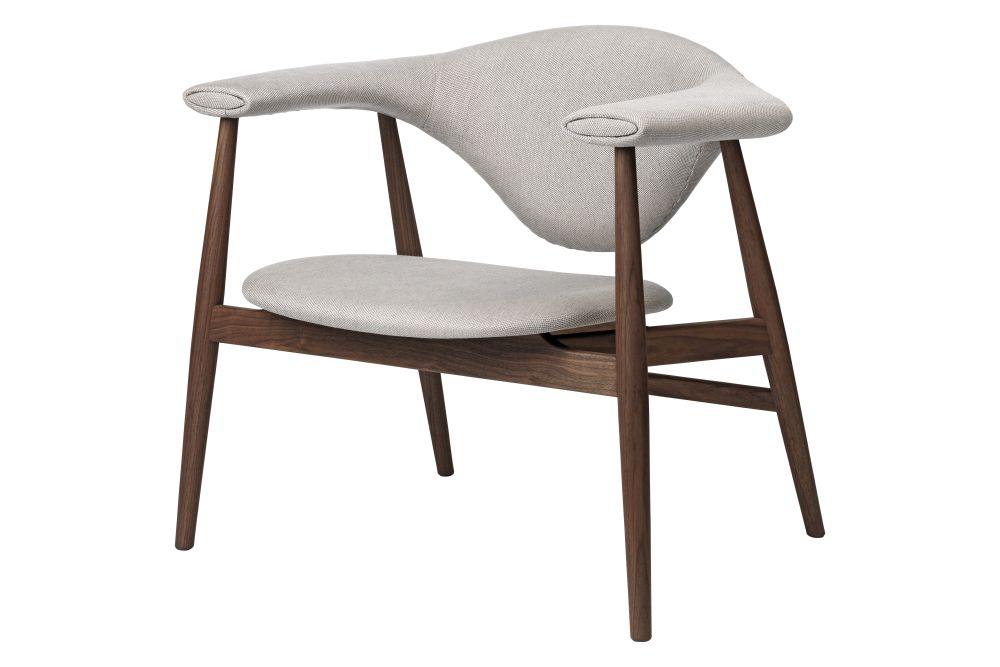 Masculo Lounge Chair, Wood Base by Gubi