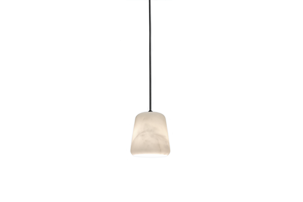 White Marble w. Black Fiting,New Works,Pendant Lights
