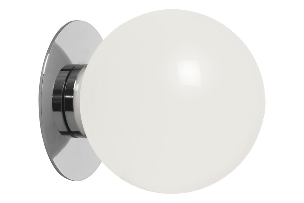 Large polished nickel with opal glass shade,CTO Lighting,Wall Lights