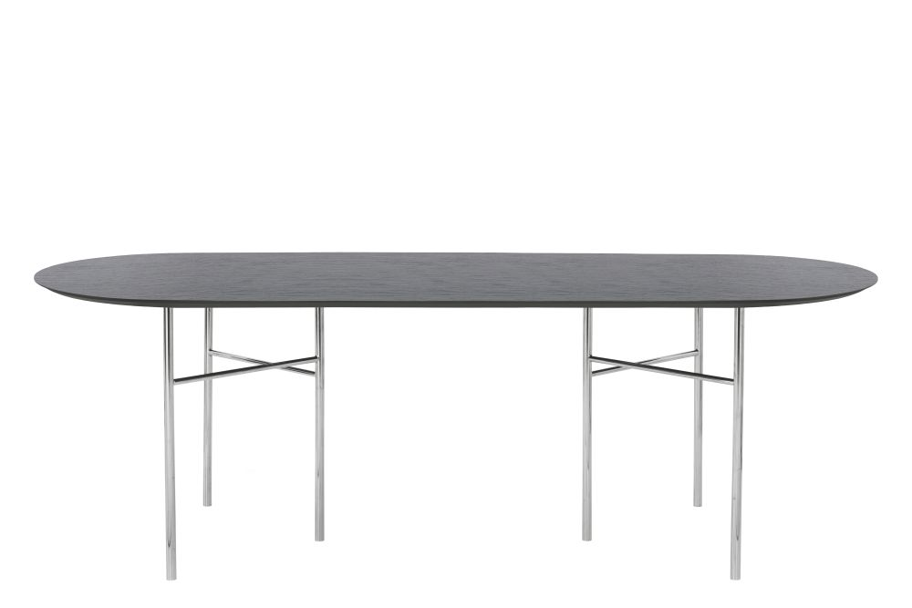 Light Grey Linoleum, Metal Black, 75 x 150cm,ferm LIVING,Dining Tables