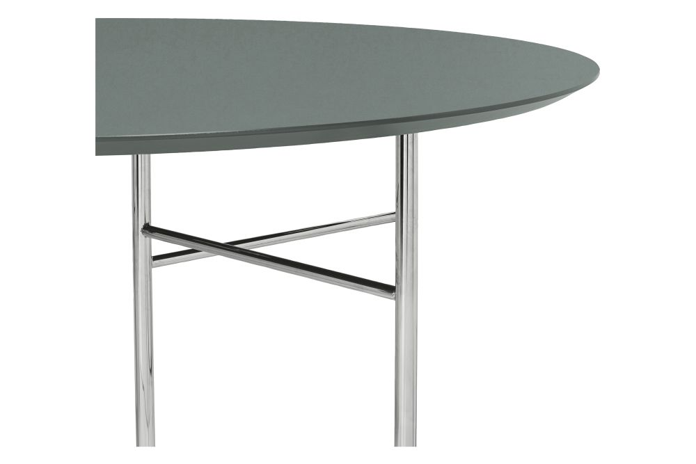 Green Round Table.Mingle Round Table Top Green Mdf Core And Forbo Linoleum By Ferm Living