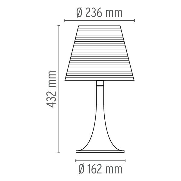 Miss K Table Lamp by Flos