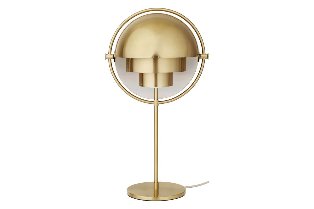 Soft Black Semi Matt / Brass,GUBI,Table Lamps