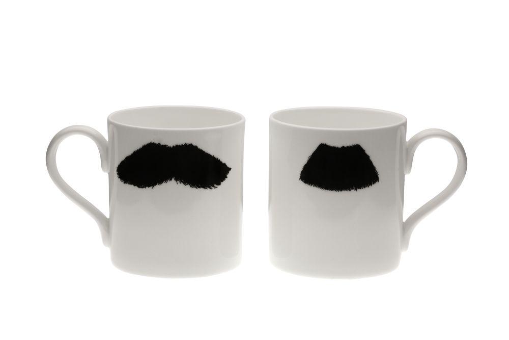 Mustafa Chaplin Moustache Mug by Peter Ibruegger Studio