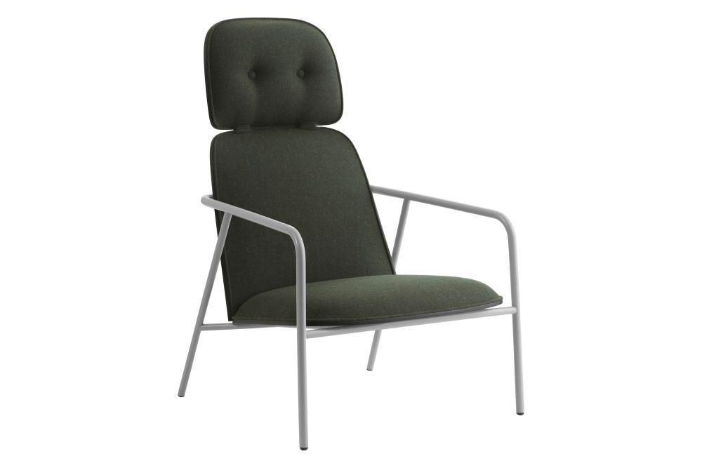 Black Steel, Lacuered Oak Veneer, Main Line Flax,Normann Copenhagen,Lounge Chairs