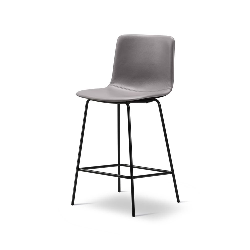 Pato 4 Leg Barstool Fully Upholstered, Bar or Counter Height by Fredericia