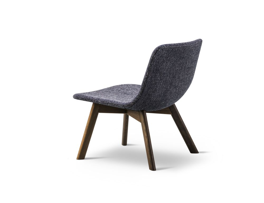 Oak Black Lacquered, Nubuck 501 Light sand,Fredericia,Lounge Chairs